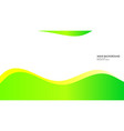 abstract wave background with green color and vector image vector image