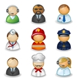 Avatars as different professions vector image vector image