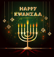 banner for kwanzaa with traditional colored and vector image