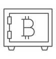 bitcoin storage thin line icon security and money vector image vector image