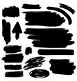 Black brush strokes collection vector image
