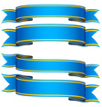 blue ribbons vector image vector image