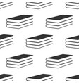 books icon seamless pattern on white background vector image