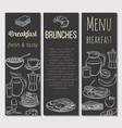 breakfast template banner vector image vector image