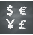 Chalkboard Money Signs vector image vector image