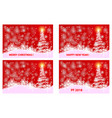 christmas card - set vector image vector image