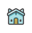 church religious building icon cartoon vector image
