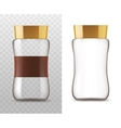 Coffee glass jar isolated icons vector image vector image