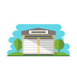 commercial storehouse building isolated icon vector image vector image