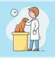 concept veterinary clinic young veterinarian vector image vector image