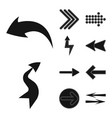 design of element and arrow icon vector image