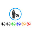euro investor rounded icon vector image vector image