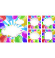 five frames with colorful balloons vector image