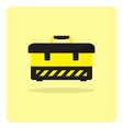 flat icon tool box vector image
