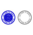 grunge letters to santa scratched stamp seals vector image vector image