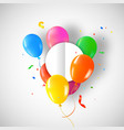 happy birthday card template with party balloons vector image
