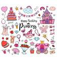 happy birthday princess vector image vector image