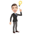 happy businessman thinking and having idea vector image vector image
