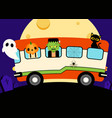 happy halloween party template design background vector image