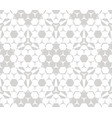 hexagonal ornament seamless pattern vector image
