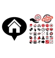House Info Balloon Flat Icon with Bonus vector image vector image