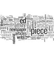 how to write your op ed piece vector image vector image