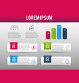 infographic business report progress success vector image vector image