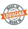 Louisiana orange grunge ribbon stamp on white vector image vector image