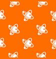 molecule dna pattern orange vector image vector image
