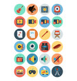 Multimedia Flat Icons 5 vector image vector image
