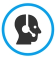 Operator Rounded Icon vector image vector image