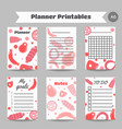 organizer with meat products flat meat farm vector image