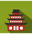 pagoda flat icon vector image vector image