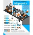 Petroleum Isometric Infographics vector image vector image