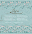 retro flourish background vector image vector image