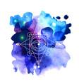 sacred geometry good for logo vector image
