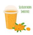 Sea buckthorn smoothie detox with berries vector image