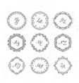 set of beautiful wreath vector image vector image