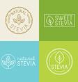set of labels badges and design elements for food vector image vector image