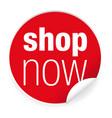 shop now label sticker vector image vector image