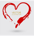 sign heart hand painted ink element vector image vector image