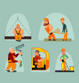 six workers set vector image vector image