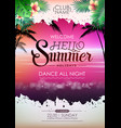 summer disco poster cocktail beach party vector image