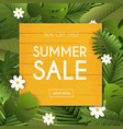summer sale banner poster flyer blurred vector image vector image