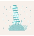 Tower of Pisa Sweetheart vector image