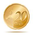 twenty euro cent coin 20 vector image