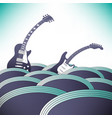 two guitars swim in an ocean of music vector image