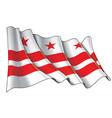 waving flag washington dc vector image vector image
