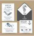 wedding card with whale colorful vector image vector image