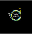 wires cable logo vector image